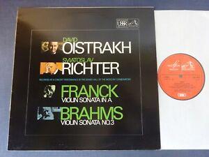 FRANCK / BRAHMS - VIOLIN SONATAS LP, David Oistrakh, Richter, EMI ASD 2618