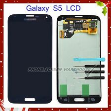 FOR SAMSUNG GALAXY S5 i9600 G900F BLACK SCREEN AMOLED FHD LCD DISPLAY ASSEMBLY