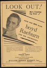 1942 Boyd Raeburn photo music trade booking ad