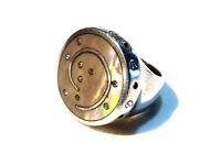Bijou argent 925 bague ronde nacrée taille 56 ring