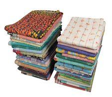 Handmade Kantha Quilt Indian Vintage Bedspread 45 Pcs Wholesale Lot Throw Art