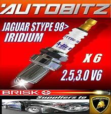 FITS JAGUAR S TYPE 2.5 3.0 V6 1998> BRISK SPARK PLUGS X6 IRIDIUM FAST DISPATCH