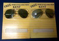 NIP Vintage KENT CIGARETTES Promotional Sport Sunglasses Birex Aviator Glasses