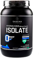 Sascha Fitness Hydrolyzed Whey Protein Isolate,100% Grass-Fed (2 Pounds,