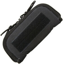 """Carry All 9"""" Black Padded Interior Cordura Zip Pouch"""