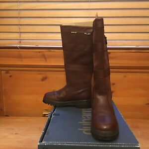 Dubarry Wexford Brown Country Boot Outer Leg Zip Wide Calf Gore-Tex size 4 EUR 3