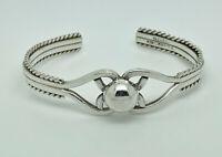 Gorgeous Vintage Mexican Studio Sterling Silver Modernist Bangle Cuff Bracelet