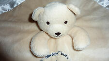 Baby Fanatic Security Blanket Cowboys with Bear Beige/blue