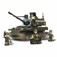 Compatible Blocks KAZI 642pcs 4 in 1 Military Army War SK105 Tank