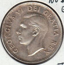 "K33 CANADA 50c 50 CENTS COIN 1950 no design in ""0"" EXTREMELY FINE"