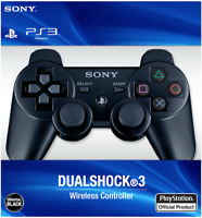 Sealed Black PlayStation 3 Dualshock Wireless Controller for Sony PS3 Free Ship