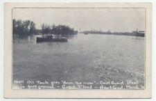 1936 Hartford CT Flood Shell Oil Tank Goes Down the River Coast Guard Boat