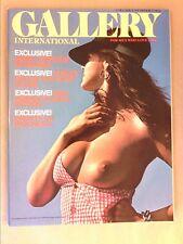 RARE REVUE EROTIQUE VINTAGE EN ANGLAIS / GALLERY INTERNATIONAL VOL1 N°7 / 1976