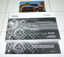 2016 CHEVROLET SILVERADO OWNERS MANUAL set GUIDE 16 SET LT LS LTZ NEW