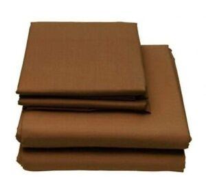 6-Piece Set: Egyptian Comfort 2200 Count Deep Pocket Bed Sheets - BROWN