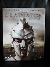Gladiator Blu-Ray Embossed Steelbook Full Slip [HDZeta] Gold Label Open Rare