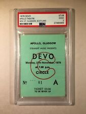 1978 Devo Concert Ticket Apollo Theatre Glasgow Scotland PSA 2