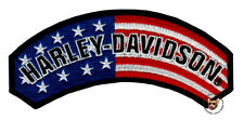 HARLEY DAVIDSON USA FLAG ROCKER VEST PATCH PATRIOTIC MOTORCYCLE PATCH MADE USA