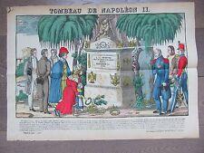 GRANDE IMAGE EPINAL 1880 TOMBEAU DE NAPOLEON II