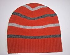 602cd9e0bae Brooks Brothers Knit Hat Striped beanie Orange beige gray wool blend  44.50  NWT
