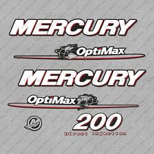 Mercury 200 hp Optimax outboard engine decals sticker set reproduction 200HP