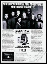 1991 Star Trek the Next Generation case photo Collector Edition vintage print ad