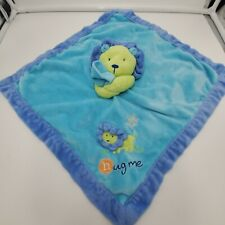 Just One Year Aqua Blue Green Hug Me Lion Baby Security Blanket Lovey