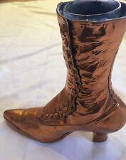 Antique 1920's Bronzed Women's Boot Vase