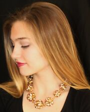 Kate Spade Crystal Orbit Graduated Necklace NWT $495 BEZEL GEM RARE BRIDAL BLUSH