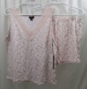 Women's Tahari  Shortie Pajama Set Large NWT