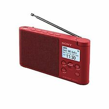 Sony Xdrs41d Portable DAB Wireless Radio - Red