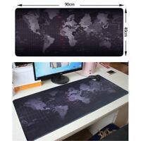 Schwarzes Weltkarten-Muster große Mousepad Mat Mauspad Schreibtisch-Matte neu