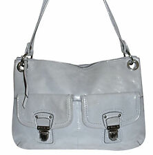 Coach Light Silver Shimmer Metallic Leather Purse Handbag Bag 18996