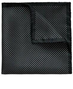 Eton Black And White Polka Dot Pocket Square BNWT