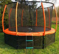Trampolin Gartentrampolin Kinder Set 305 cm + Netz Leiter Zubehör TÜV/GS 10 ft