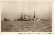 More details for scapa flow, orkney. scuttled german cruiser nurmburg # 12 by c.w.burrows.
