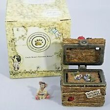 Boyds Bears CANDICE'S APPLE CRATE Doc McNibble Mouse Hinged Treasure Box Trinket