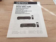 Originale Denon Bedienungsanleitung für DCD-595 DCD-695