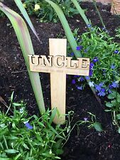 Personalised UNCLE Memorial Remembrance Cross Funeral