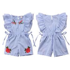 Newborn Baby Girls Floral Romper Jumpsuit Bodysuit Outfits Set Summer Clothes