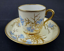 Antique Mintons Demitasse Cup & Saucer, Enameled