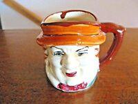 """Vintage 2 1/4"""" Porcelain Miniature Character Mug/Jug- Made in Occupied Japan Mkd"""