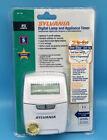 Sylvania Digital Lamp Appliance Timer Model SA 140 Random Security Settings New! photo