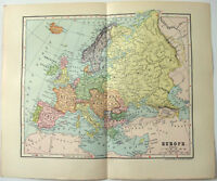 Original 1903 Dated Map of Europe by Dodd Mead & Company. Antique