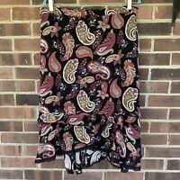 NWT Cynthia Max paisley print midi skirt Size US 12 Regular