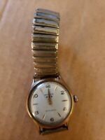 Vintage BENRUS 3 Star Self Winding Men's Gold Plated Watch