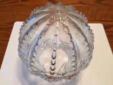 Vintage Light Shade Globe Clear Glass Embossed Rose Floral