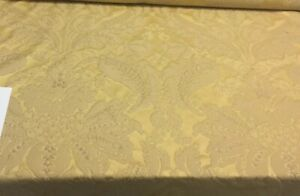 Gold Damask Jacquard Made in italy Fabricut Elidor Fabric By the yard
