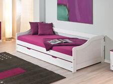 BETTGESTELL / SOFABETT  Massivholz weiß lasiert/ lackiert 90 x 200 cm  NEU & OVP