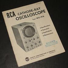 RCA Type WO-91A Cathode Ray Oscilloscope:  ORIGINAL MANUAL